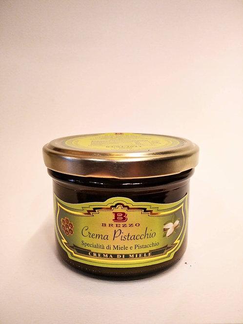 Crema di miele e pistacchio 240 gr - Apicoltura Brezzo