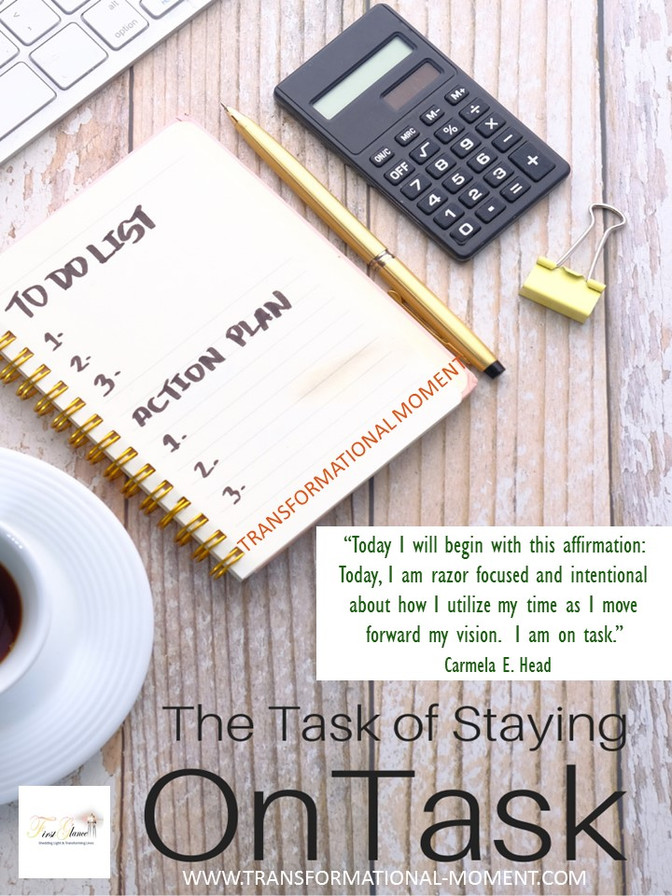 The Task of Staying On Task!