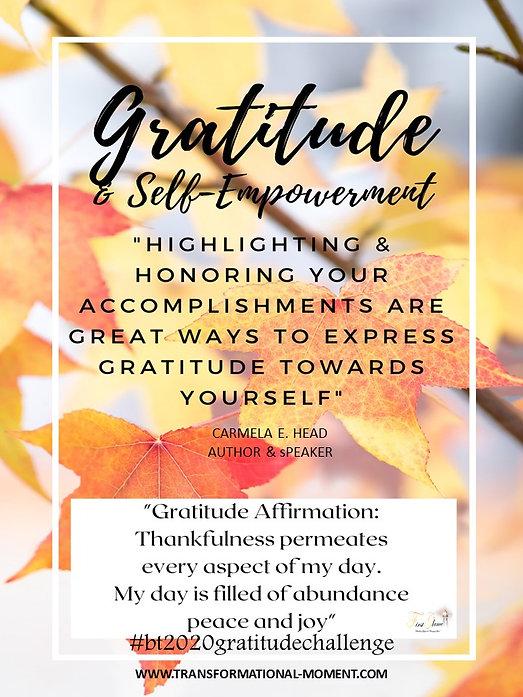 Gratitude Honoring and Affirmations FB.j