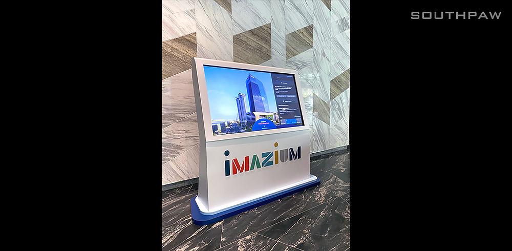 4k Touchscreen Kiosk at Imazium