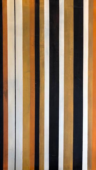 "24"" x 36"" 2000 Oils on canvas Linear series"