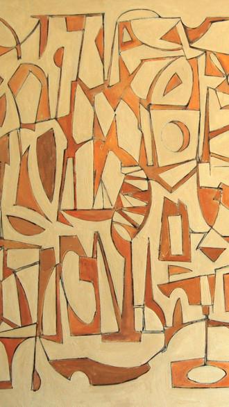 "84"" x 84"" 2005 Oils on canvas"