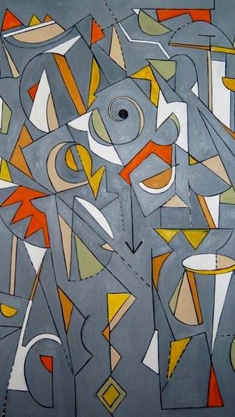 "60"" x 84"" 2008 Oils on canvas"