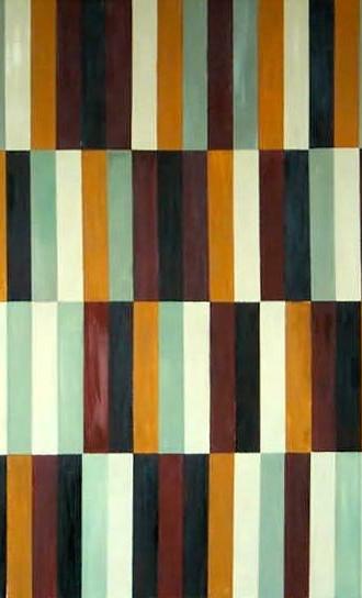 "48"" x 48"" 2000 Oils on canvas  Linear series"