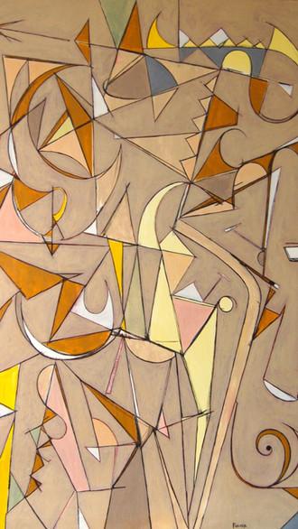 "48"" x 72"" 2019 Oils on canvas"