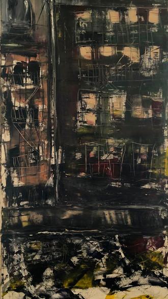 "24"" x 48"" 1999 Oils on canvas"