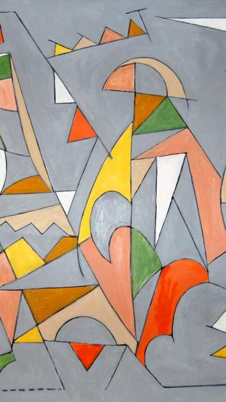 "42"" x 42""  2012 Oils on canvas"