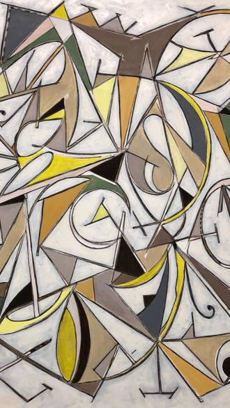 "48"" x 54"" 2021 Oils on canvas"