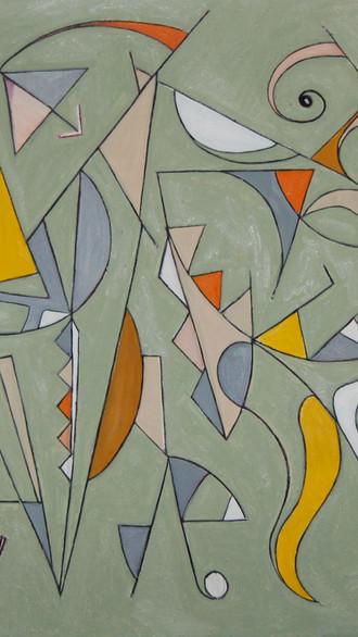 "48"" x 72"" 2012 Oils on canvas"