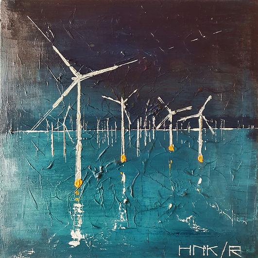 Windmolens IJsselmeer. Canvas 50 x 50 cm. Beschikbaar. Prijs op aanvraag.