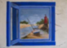 Toul an Hery. Canvas 40 x 60 cm. Acryl met penseel.