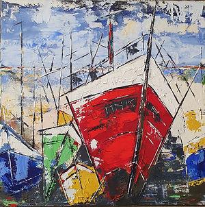 Breizh. Drieluik Canvas 60 x 60 cm x 3. Beschikbaar, prijs op aanvraag