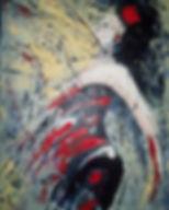 Mambo number 4. Acryl met paletmes. Canvas 60 x 80 cm