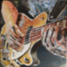 Slowhand. Canvas 60 x 60 cm. Acryl met paletmes