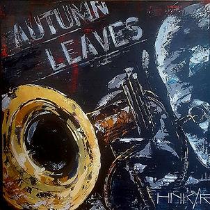 Autumn leaves. Canvas 90x90cm.  Unfinished