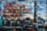 Schoorsteen Woudagemaal. Canvas 120x90cm