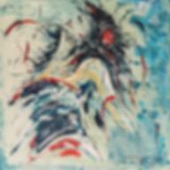 Mambo nr. 2. Canvas 100 x 100 cm. Beschi