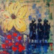 Reflecting. Canvas 100 x100 cm. Acryl, paletmes. Beschikbaar, Prijs op aanvraag.