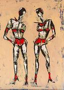 Naughty ladies. Canvas 40 x 60 cm. Beschikbaar, prijs op aanvraag