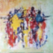 Synchron V. Canvas 100x100cm. Beschikbaar, prijs op aanvraag