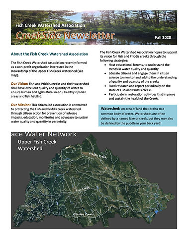 Fish Creek Watershed Association_Creeksi