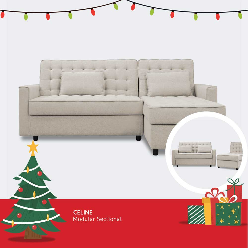 tufted storage sofa bed sectional