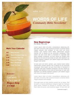 pg 1 Fruit Church Newsletter