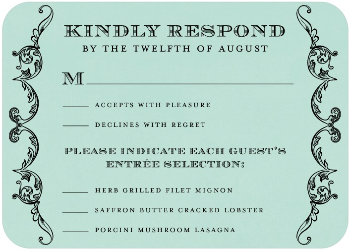 Response Card - Sample (not mine)