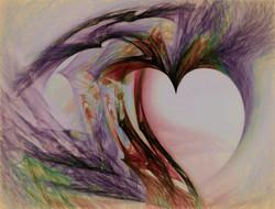 multi colored heart