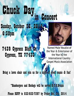 Concert Promo Chuck Day