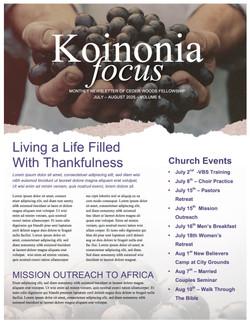 pg 1 The Fruit of the Spirit Religious Newsletter