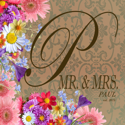 Front Cover of Wedding Booklet