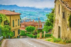 Watercolor Tuscan Villa 2014