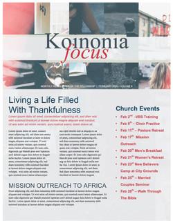 pg 1 Do Everything In Love Church Newsletter