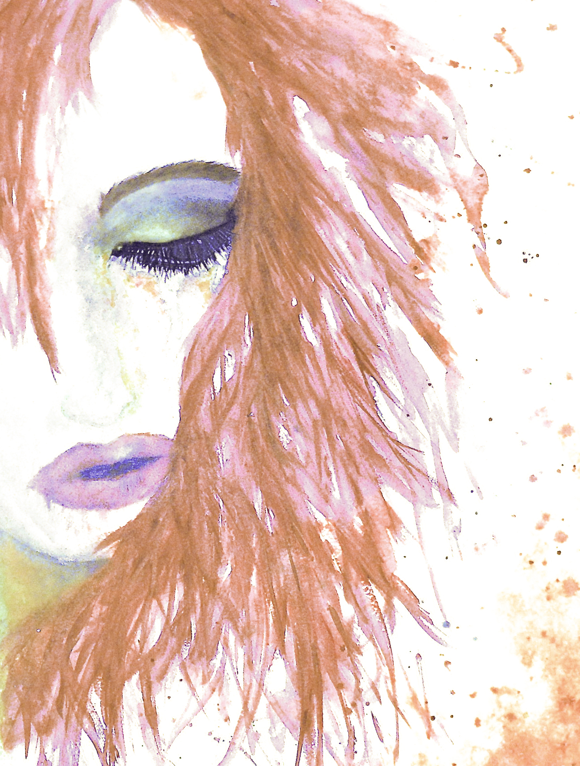 Release-Pink hair-peacock eye 2014-3