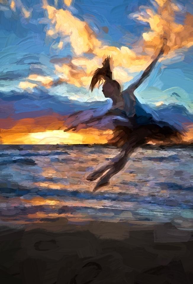 Dancer on beach Acrylic 2014