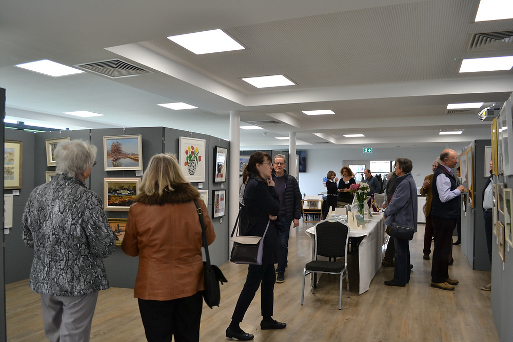 Spring Exhibition 2019 artist and visitors