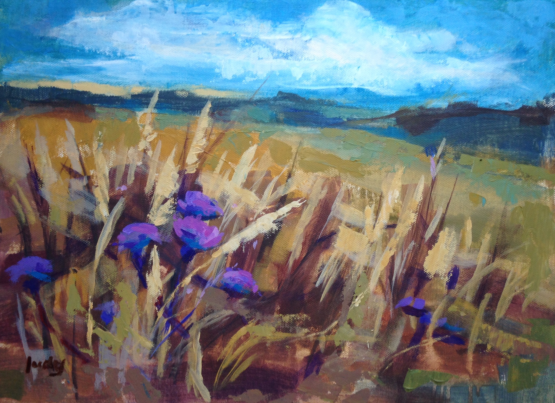 Field Edge - Judy Coleman - Acrylic - H41xW51 cms