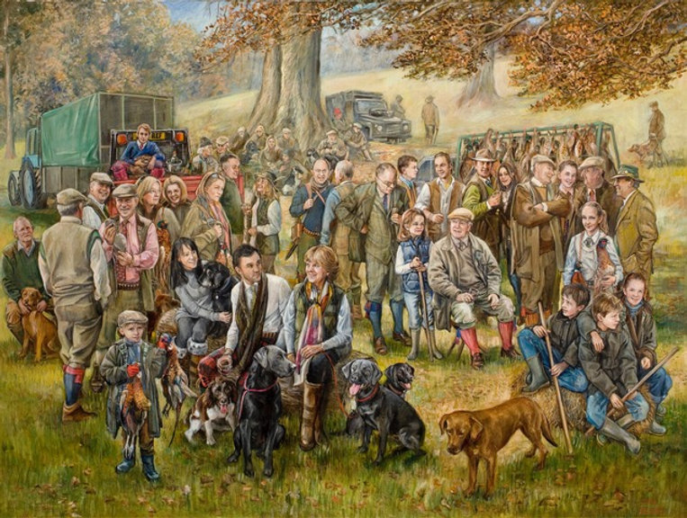 Jane Allison - The Shooting Party - Oil.