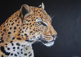 FionaChampionAmur_Leopard__Acrylic__95cm