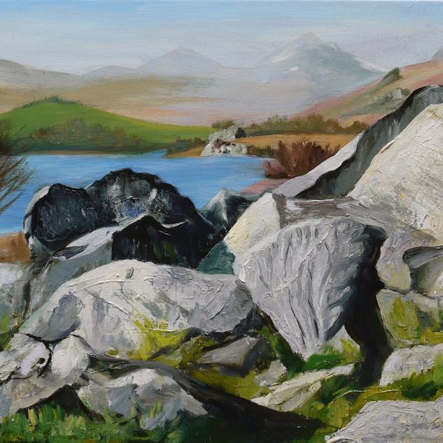 Rocks by Llynnau Mymbyr