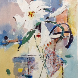 White Lillies in Abstract