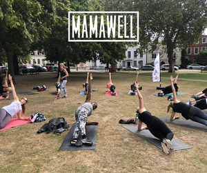 Mums working out at Park in Putney with Mamawell