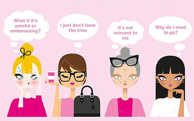 illustration about women thinking about smear tests