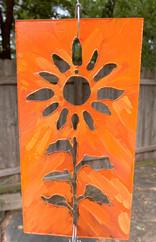 sunflower, in plaque