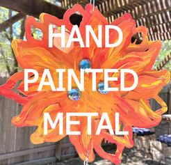 hand painted metals