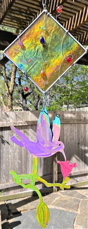 Hummingbird & the tulip