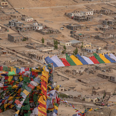 Prayer Flags above Leh