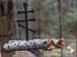 Cross marking the grave of a solider or partisan.