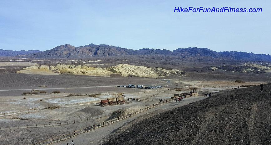 Harmony Borax Works hike, Death valley